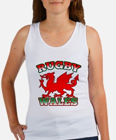 Rugby Wales Flag Women's Tank Top