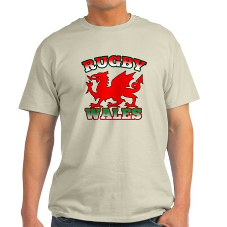 Rugby Wales Flag Light T-Shirt