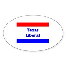 Texas Liberal Oval Decal