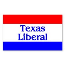 Texas Liberal Rectangle Decal