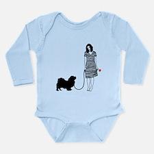 Tibetan Spaniel Long Sleeve Infant Bodysuit
