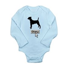 Smooth Fox Terrier Long Sleeve Infant Bodysuit