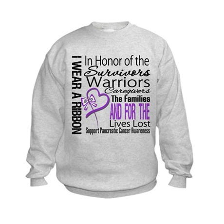 Pancreatic Cancer Tribute Kids Sweatshirt