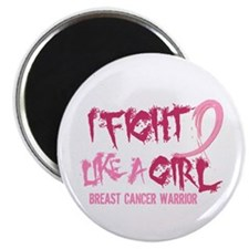 "Licensed Fight Like a Girl 2.25"" Magnet (10 pack)"
