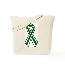 Stripped Donor Awareness Ribb Tote Bag