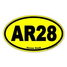 AR28 Goose Geek Euro Oval Decal
