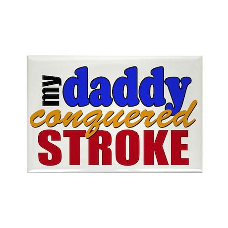 Stroke Survivor Daddy Rectangle Magnet