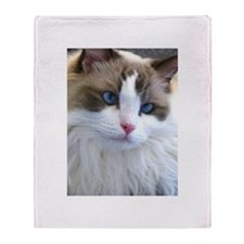 Beautiful Ragdoll Cat Throw Blanket