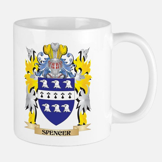 Spencer Family Crest - Coat of Arms Mugs