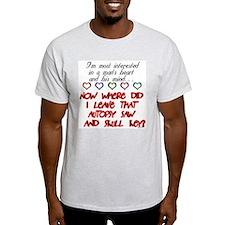 A Man's Heart & Mind  Ash Grey T-Shirt