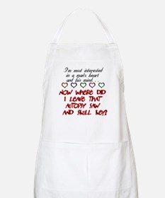 A Man's Heart and Mind BBQ Apron