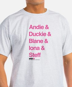 Pretty in Pink: Character Names T-Shirt