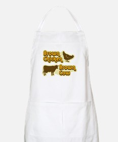 Brown Chicken Cow Apron