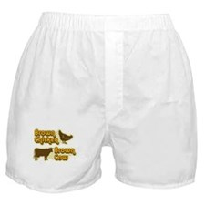 Brown Chicken Cow Boxer Shorts