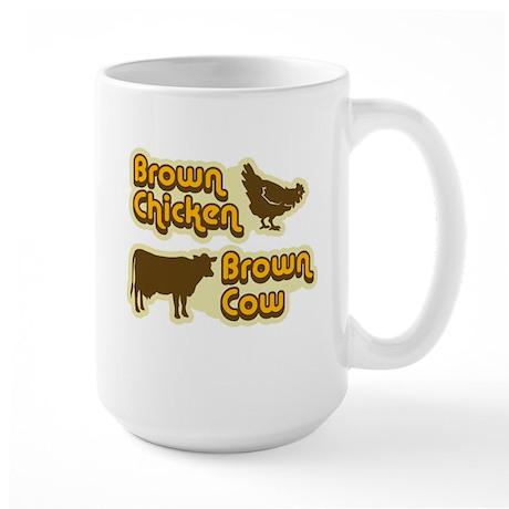Brown Chicken Cow Large Mug