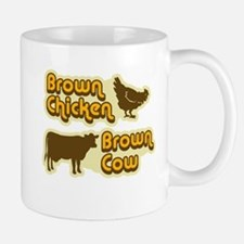 Brown Chicken Cow Mug