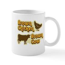 Brown Chicken Cow Mug
