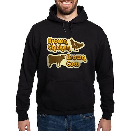 Brown Chicken Cow Hoodie (dark)