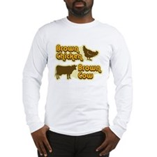 Brown Chicken Cow Long Sleeve T-Shirt