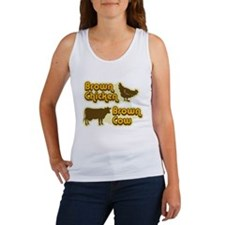 Brown Chicken Cow Women's Tank Top