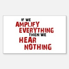 Amplify/Nothing Sticker (Rectangle)