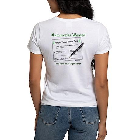 Organ Donor Autograph Women's T-Shirt