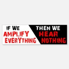 Amplify/Nothing Sticker (Bumper)