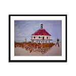 West Rigolets lighthouse Framed Panel Print