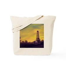 'Old Derrick Sunset' Tote Bag