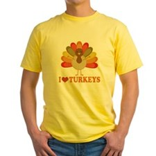 Cute I Heart Turkeys T