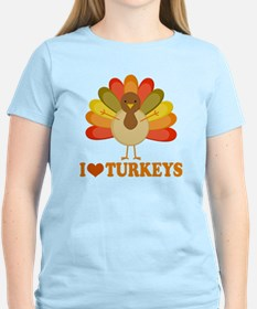 Cute I Heart Turkeys T-Shirt