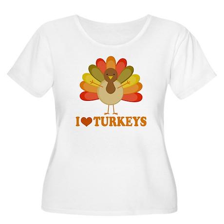 Cute I Heart Turkeys Women's Plus Size Scoop Neck