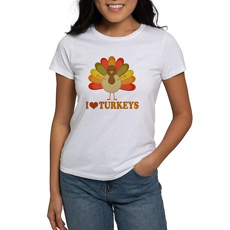 Cute I Heart Turkeys Women's T-Shirt