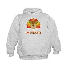 Cute I Heart Turkeys Hoodie