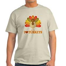 Cute I Heart Turkeys T-Shirt