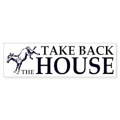 Take Back the House Political Bumper Bumper Sticker