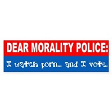 Morality Police Car Sticker