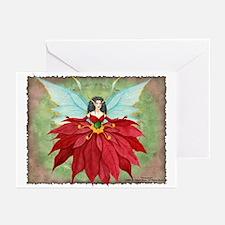 """""""Poinsettia Fairy"""" Christmas Greeting Cards"""