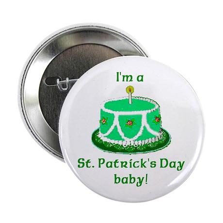 St Patrick's Day Birthday Button