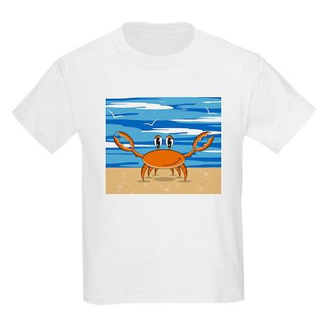 Cute Little Beach Crab Kids Light T-Shirt