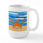 Cute Little Beach Crab Large Coffee Mug