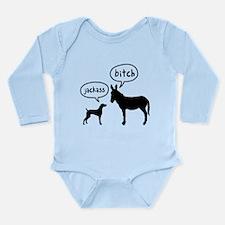 Weimaraner Long Sleeve Infant Bodysuit