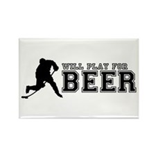 Unique Sports hockey Rectangle Magnet