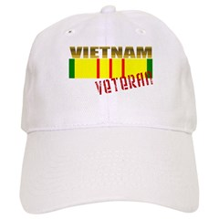 Vietnam Veteran Ribbon Baseball Cap