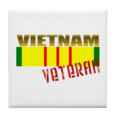 Vietnam Veteran Ribbon Tile Coaster