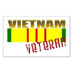 Vietnam Veteran Ribbon Rectangle Sticker