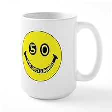 50th birthday smiley face Mug