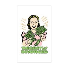Recently Divorced Rectangle Decal