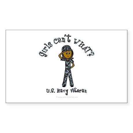 Dark Navy Veteran (Blue Camo) Sticker (Rectangle)