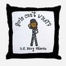 Dark Navy Veteran (Blue Camo) Throw Pillow